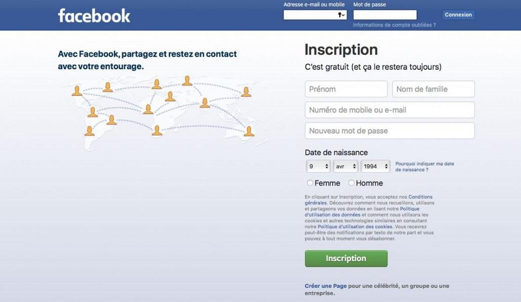 créer un compte facebook